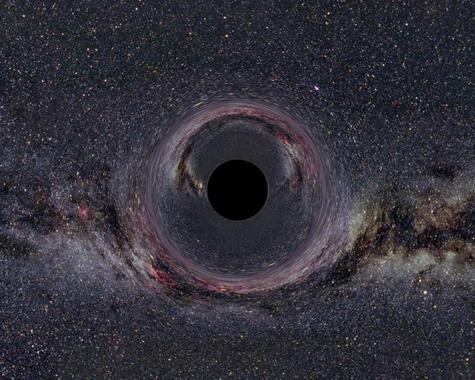 Los físicos españoles proponen estudiarla singularidad de los agujeros negros como si se tratase de una imperfección en la estructura geométrica del espacio-tiempo./ CSIC