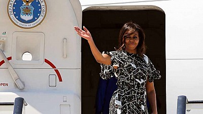 Michelle Obama se despide de España