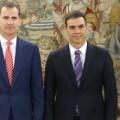 Pedro Sánchez confirma ante Felipe VI que no apoyará a Rajoy en la investidura.