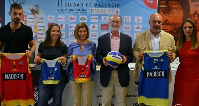 Presentación de la segunda edición de los Internacionales Ciudad de Valencia de Voley Playa.