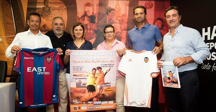 Presentación del XXIII Trofeo de Fútbol Playa 'Ciudad de Valencia'.