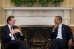 Rajoy recibe Obama en La Moncloa.