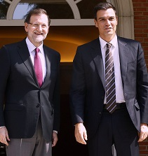 Rajoy y Sánchez en un encuentro en la Moncloa.