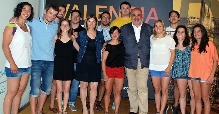 Recepción del grupo de yudocas del Valencia Club de Judo.