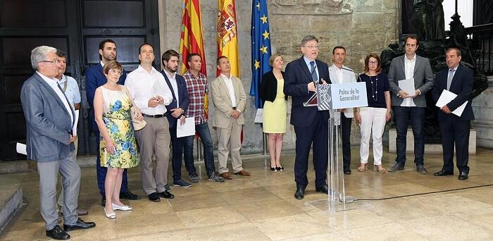 Reunión con los alcaldes de los ayuntamientos de Xirivella, Aldaia, Alaquàs, Loriguilla, Cheste, Chiva, Buñol, Siete Aguas, Requena, Utiel, Camporrobles, Ribarroja y Mislata.