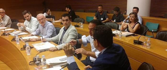 Reunión de la Comisión de Radiotelevisión Valenciana y del Espacio Audiovisual.