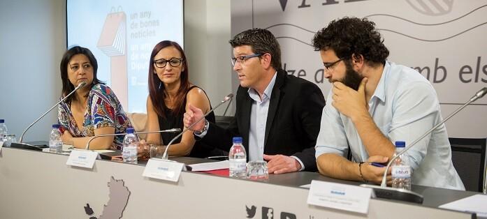 Rosa Pérez Garijo, Mª Josep Amigó, Jorge Rodríguez y Roberto Jaramillo.  (Foto-Abulaila).