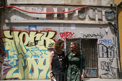 Tello visitó el refugio antiaéreo de la calle de Serrans.