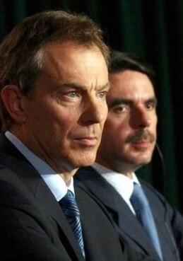 Tony Blair y José María Aznar.