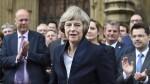 Theresa May brindó un discurso frente a parlamentarios conservadores (EFE)