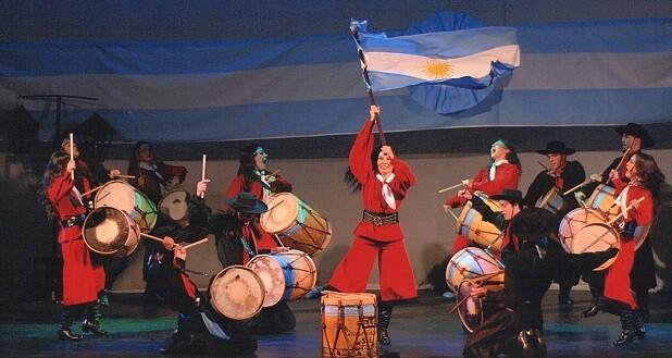 Baile típico de Argentina.