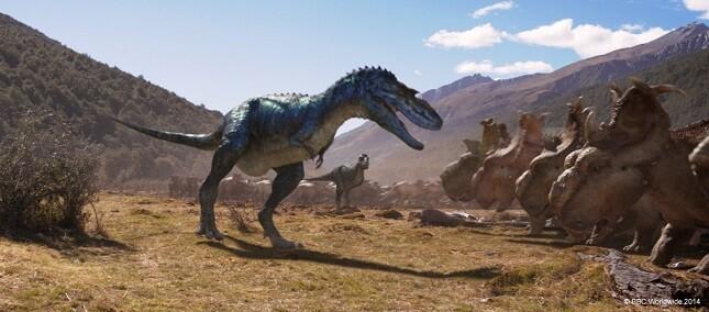Caminando entre dinosaurios.