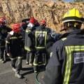 Imágenes bomberos CPBC parque Plana Alta en trabajos excarcelación en TFCO CV13
