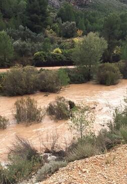 Daños provocados por las lluvias en Chera.