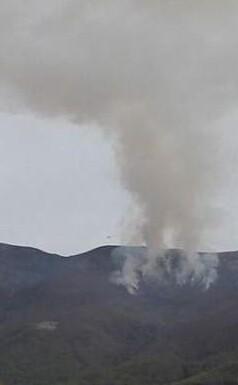 El perímetro del incendio es prácticamente el mismo, unos 15 kilómetros.