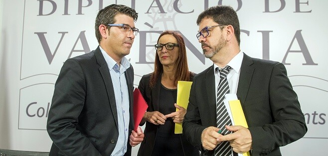 Jorge Rodríguez, Mª Josep Amigó y Emili Altur. (Foto-Abulaila).
