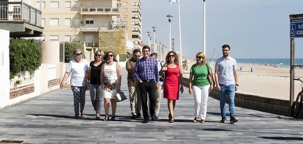 Jorge Rodríguez e Isabel García visitan obras en Sueca. (Foto-Abulaila).