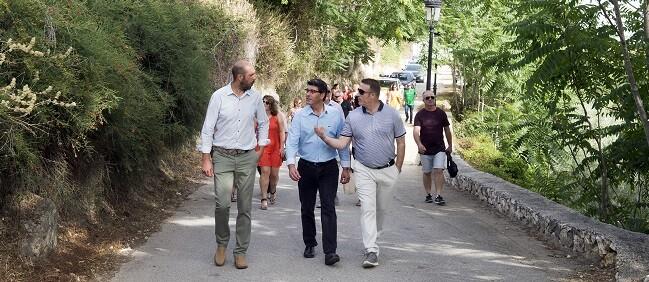 Jorge Rodríguez y Pablo Seguí en la presentación del PCV en Enguera (Foto-Abulaila).