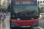 La nueva parada de la línea 11 en la calle Almassora ya está totalmente operativa.