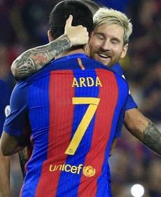 Messi fue uno de los autores de los tres goles.
