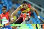 Orlando Ortega conquista la plata en 110 metros vallas.