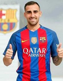 Paco Alcácer como jugador del Barça.
