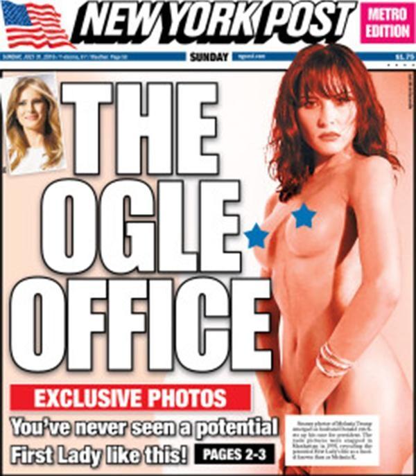 Publican fotos al desnudo de Melania Trump (1)