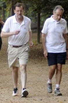 Rajoy en unos de sus ejercicios matinales.