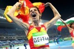 Ruth Beitia logra a sus 37 años un nuevo oro para España al saltar 1,97 de altura.