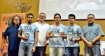 El equipo ganador de la Universidad de Alicante: Aaron Bendayan, Pedro López y Albert Márquez
