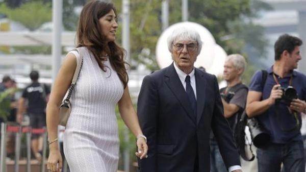 Bernie Ecclestone y Fabiana Flosi (AP)