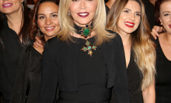PARIS, FRANCE - SEPTEMBER 02:  Anastasia Soare poses with her team during the Anastasia Beverly Hills Launches Beauty Line Exclusively at Sephora Champs-Elysees on September 2, 2016 in Paris, France.  (Photo by Marc Piasecki/Getty Images for Sephora) *** Local Caption *** Anastasia Soare