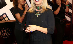 PARIS, FRANCE - SEPTEMBER 02:  Anastasia Soare arrives to the Anastasia Beverly Hills Launches Beauty Line Exclusively at Sephora Champs-Elysees on September 2, 2016 in Paris, France.  (Photo by Marc Piasecki/Getty Images for Sephora) *** Local Caption *** Anastasia Soare