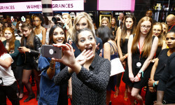 PARIS, FRANCE - SEPTEMBER 02:  (L-R) Sananas, Sandrea and Horia attend the Anastasia Beverly Hills Launches Beauty Line Exclusively at Sephora Champs-Elysees on September 2, 2016 in Paris, France.  (Photo by Julien M. Hekimian/Getty Images for Sephora) *** Local Caption *** Sananas; Sandrea; Horia