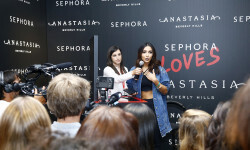 PARIS, FRANCE - SEPTEMBER 02:  Sananas speaks onstage during the Anastasia Beverly Hills Launches Beauty Line Exclusively at Sephora Champs-Elysees on September 2, 2016 in Paris, France.  (Photo by Julien M. Hekimian/Getty Images for Sephora) *** Local Caption *** Sananas