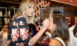 PARIS, FRANCE - SEPTEMBER 02:  Sandrea speaks onstage during the Anastasia Beverly Hills Launches Beauty Line Exclusively at Sephora Champs-Elysees on September 2, 2016 in Paris, France.  (Photo by Marc Piasecki/Getty Images for Sephora) *** Local Caption *** Sandrea