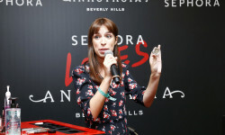 PARIS, FRANCE - SEPTEMBER 02:  Babillages speaks onstage during the Anastasia Beverly Hills Launches Beauty Line Exclusively at Sephora Champs-Elysees on September 2, 2016 in Paris, France.  (Photo by Julien M. Hekimian/Getty Images for Sephora) *** Local Caption *** Babillages