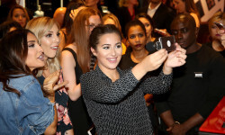 PARIS, FRANCE - SEPTEMBER 02:  (L-R) Sananas, Sandrea and Horia attend the Anastasia Beverly Hills Launches Beauty Line Exclusively at Sephora Champs-Elysees on September 2, 2016 in Paris, France.  (Photo by Marc Piasecki/Getty Images for Sephora) *** Local Caption *** Sananas; Sandrea; Horia