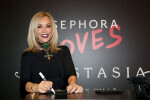 PARIS, FRANCE - SEPTEMBER 02:  Anastasia Soare poses during the Anastasia Beverly Hills Launches Beauty Line Exclusively at Sephora Champs-Elysees on September 2, 2016 in Paris, France.  (Photo by Marc Piasecki/Getty Images for Sephora) *** Local Caption *** Anastasia Soare