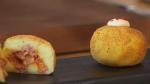 bombas-de-patata-y-carne-con-salsa-brava