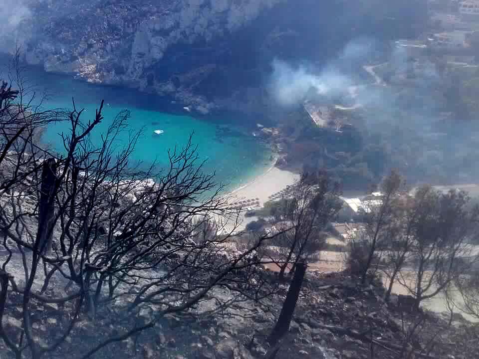 Camí Vell de la Granadella y Puig de la Llorença (incendio forestal Xàbia-Benitatxell). Autor Xavi Tro