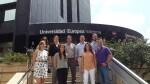 Diversos miembros del equipo de investigación en la presentación del estudio en la sede de la Universidad Europea de Valencia)