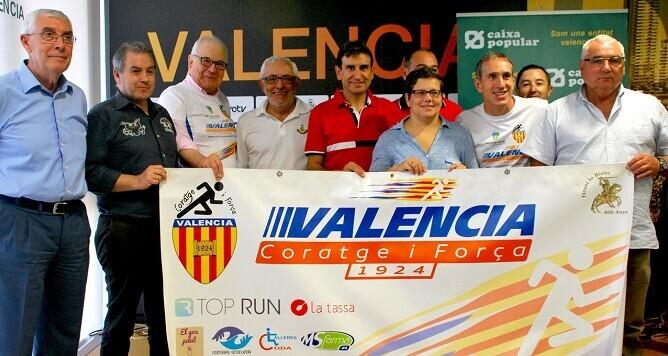 Isabel García en la presentación de la Milla de Valencia.