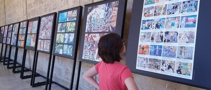 la-muestra-se-compone-de-once-paneles-que-representan-obras-importantes-en-su-carrera-como-ilustrador