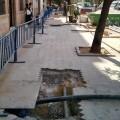 Las obras en la red de agua potable en Malilla finalizan este mes.