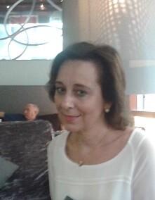María Gudín durante un momento de la entrevista.