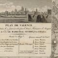 Plano de Valencia, asediada y tomada el 9 de enero de 1812 por la armada francesa de Aragón, a las órdenes del Mariscal Suchet, duque de Albufera. Fuente: Dumoulin