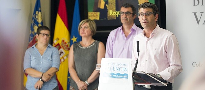 Presentación de la Vuelta a España en la Diputación de Valencia. (Foto-Abulaila).