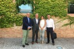 Reunión entre representantes del  Valencia CF y Maite Girau.