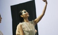 OCTOBER 22: Models pose backstage during the  show at Jakarta Fashion Week 2017 in Senayan City, Jakarta.